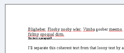 Another screenshot of a horizontal rule in oowriter