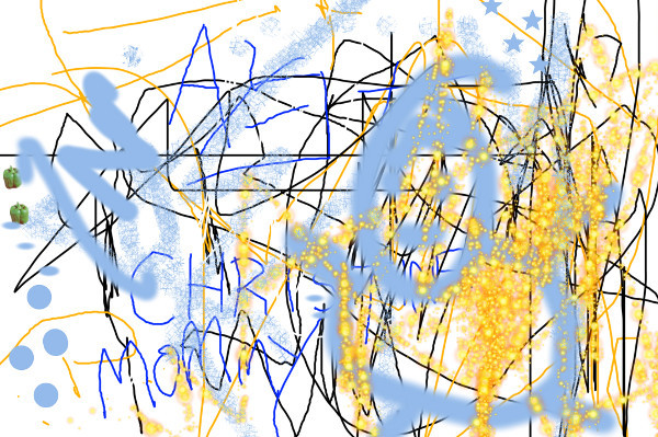 3 year old scribbles in GIMP