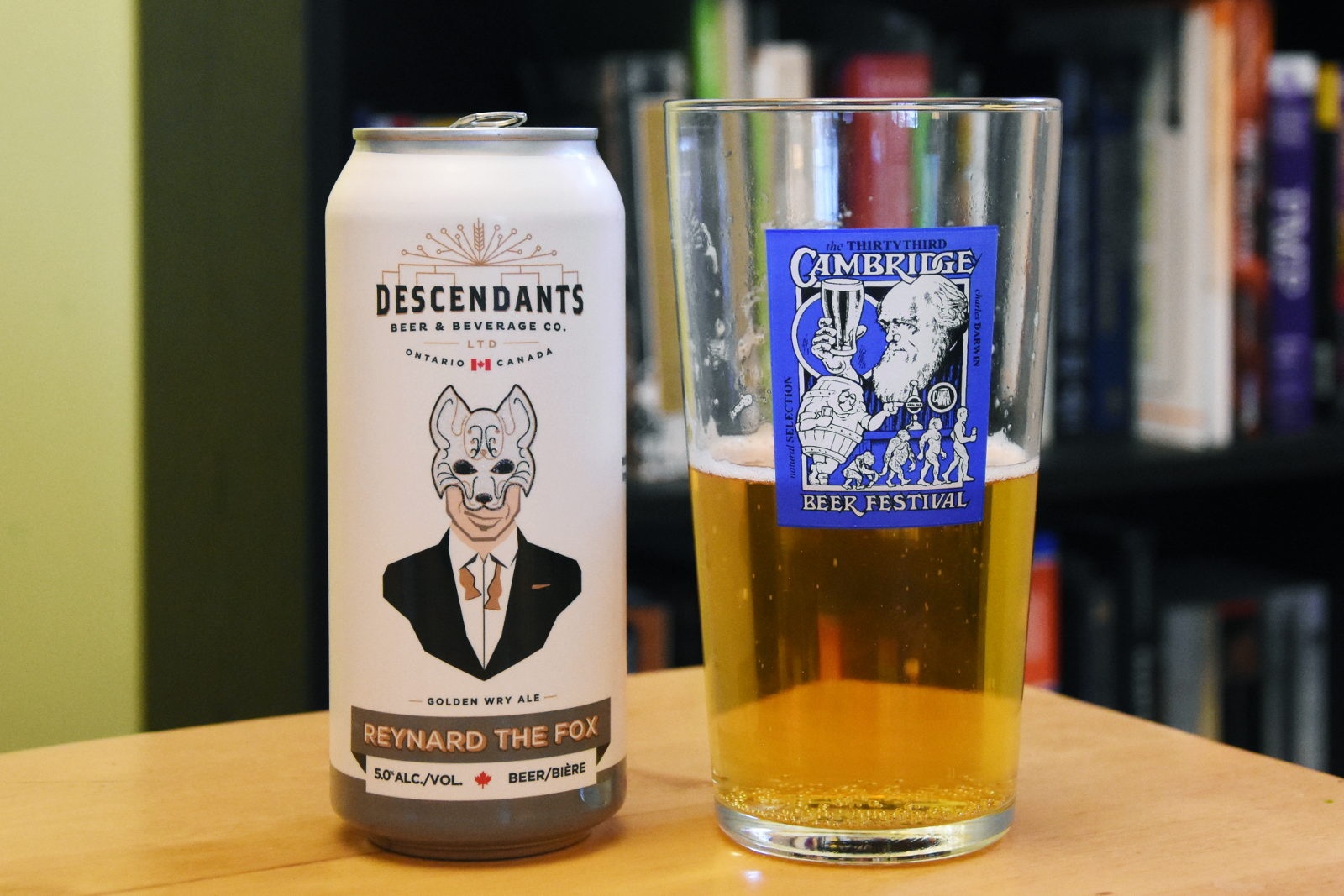 Descendants Wry Ale and Cambridge Beer Festival glass